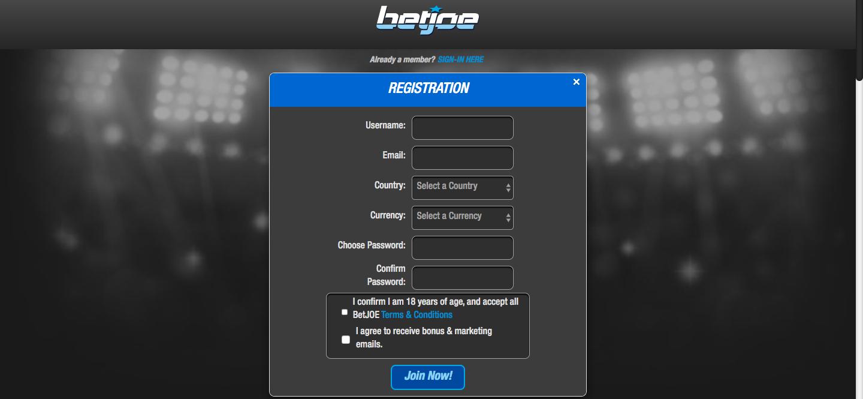 BetJOE-account-registreren